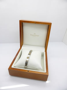 Pequignet Stainless Steel Bracelet with 18 karat Gold Moorea Links - Length: 21.5 cm - NO RESERVE