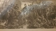 Napoleon and the battle of Waterloo, early 1875 print