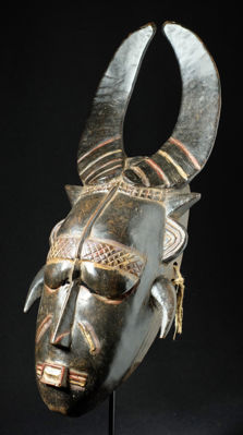 Rare buffalo Do mask - DJIMINI - Ivory Coast
