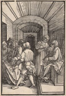 Hans Schauffelein ( 1482-1539 ) -Pilate washing his hands - 1507