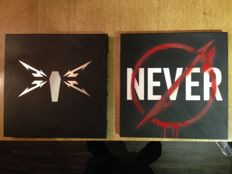 """Lot of 2 Boxes of Metallica ( 8 Lp's )- """" Through the Never"""" ( 3 ) - """" Death Magnetic """" ( 5 )"""