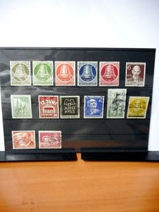 Bundespost/Berlin 1949/1967 - Collection on album sheets.