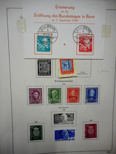 Federal Republic of Germany 1940/1950 - cancelled collection on album sheets.