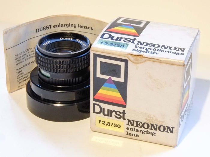 Durst 50 mm/F2.8 Neonon enlarging lens
