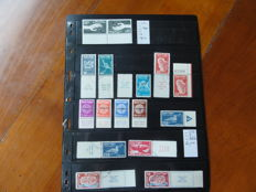Israel 1940/1960 – Collection of stamps and blocks on black sheets.