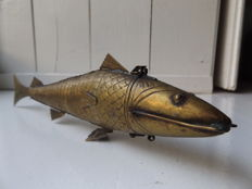 Rare bronze Jewish fish spices holder - early 19th century