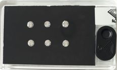 IGI Certified & Sealed  Natural Diamonds,  1.18Ct,  ***  6 Stone D BOX ***, F-G Color, SI Clarity
