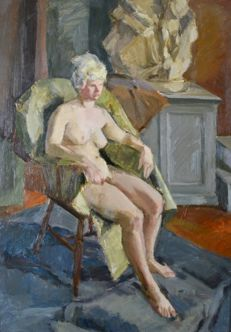 Continental school (20th century) - A nude study