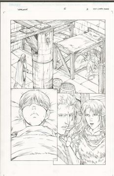 Pat Lee - Original Art Page - Warlands #5 - Page 2 - (2000)