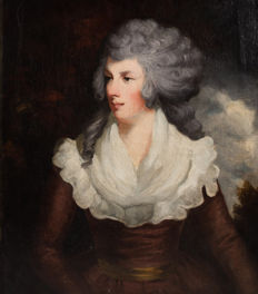 Circle of Sir Joshua Reynolds. (late 18th/early 19th  century) - Portrait of a lady.