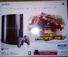 ps3 80 gb in box with 6 complete games tested tritton ax 180