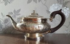 Beautiful and Richly Decorated Silver Plated Victorian Teapot