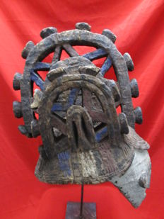 Agbogho mmuo / mmwo helmet or helm-mask of a young deceased woman - IBO or IGBO - Nigeria