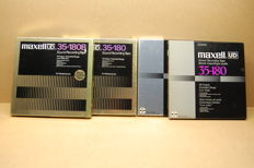 Set of 4 x Maxell tapes 26 cm metal near mint in box