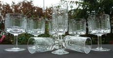 Saint Louis. lot of 8 pieces in cut and chiselled crystal