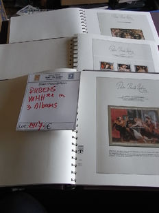 Thematic - Painter Rubens and Paitings - collection in 3 Preprint Lindner-albums.