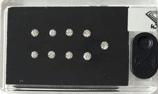 IGI Certified & Sealed  Natural Diamonds,  1.05Ct,  *** 9 Stone D BOX ***, F-G Color, SI Clarity