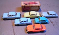 Norev - Scale 1/87 - Lot with 6 x Micro-Miniatures models 1960s