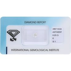 0.25 ct brilliant cut diamond, E SI1