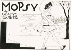 Gladys Parker, large Mopsy Sunday complete with Mopsy's Modes paper dolls page