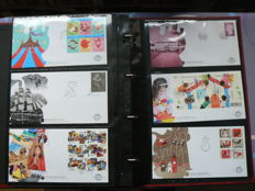 The Netherlands 2006/2011 - Six complete years of FDCs in Importa album with case