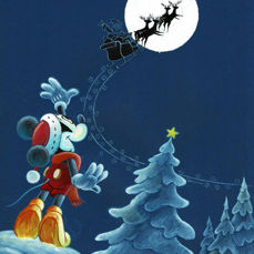 Vendetta, Z. - Original Drawing - Mickey - X-Mas Disney Art