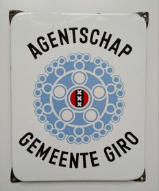 Beautiful enamel sign Gemeente Giro
