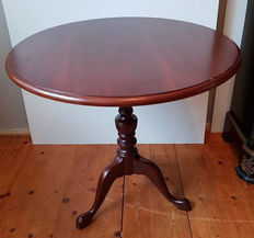 Walnut tilt top table - England, 1950s/60s