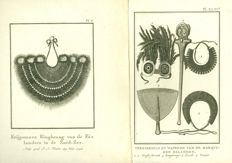 Two prints by Joseph Sebastian Klauber - Ornaments and Weapons of the Pacific Islands - circa 1794