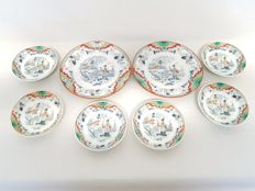 Petrus Regout - Timor - Six saucers and two dishes