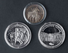 Turkey - 500,000, 7,500,000 and 10,000,000 lira 1999/2001 (3 different) - silver