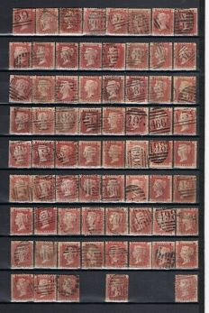 Great Britain Queen Victoria - 275 red pennies Stanley Gibbons 43