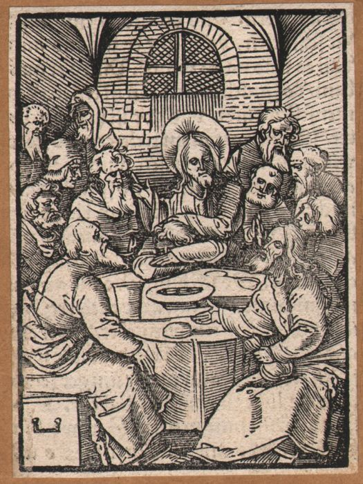 Hans Schauffelein (1482-1539) The Last Supper +  the unjust steward - A pair of original woodcuts by Durers pupil - 1514
