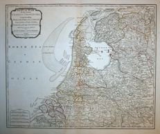 The Netherlands; Laurie & Whittle - Seat of war in the Seven United Provinces - 1797