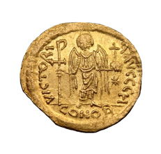 Byzantine Empire - Justinian I Au Solidus. Constantinople mint, 20mm. C. 527-565 AD