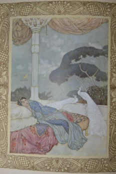 Edmund Dulac; Rubáiyát of Omar Khayyám. Rendered into English verse by Edward Fitzgerald - ca. 1920