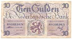 Netherlands - 10 guilders 1945 - Lieftinck Tenner - PL42.a