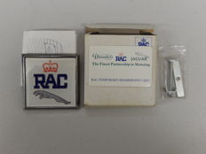 Vintage Original New in Box 1980's RAC Jaguar Square Car Badge by Renamel 8 cm x 8 cm