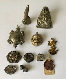Collection of Ten Chinese Antique Jewellery pieces.