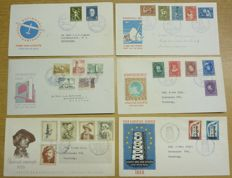 The Netherlands 1954/1956 - selection of 6 FDCs between E14 and E27