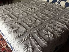 Crochet cotton Bedspread, France, circa 1900