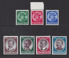 German Reich 1933 - Friedrich and Famous persons - Michel 479/481 + 540/543