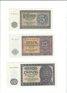 Germany (GDR) - 50 to 100 marks 1955 - Pick 17/21