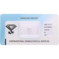 0.42 ct round brilliant cut diamond, G SI1
