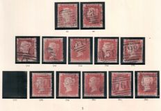 Great Britain Queen Victoria - penny red plates Collection