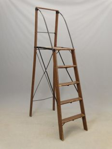 Library platform ladder, England, first half of 20th century