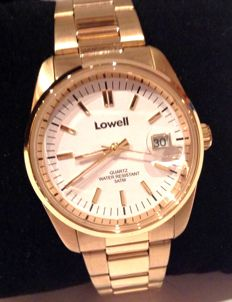 LOWELL Italy - OYSTER CLASS 36 mm - 18 kt gold laminated - Unisex  - New