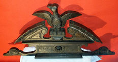 Eagle. Antique clerical furniture Image made of wood. Germany. ca. 1920