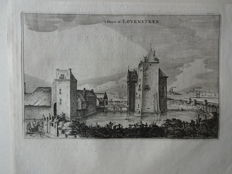 Zaltbommel, Loevestein;  Blaeu / Tirion / Spilman / Trap - 6 images on 5 pages - 17th/18th/19th century
