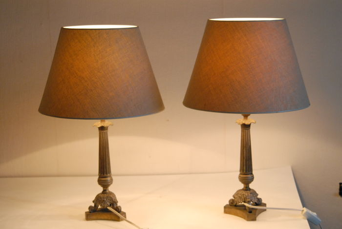 Pair of lamps in Empire style. France, second half of the 20th century